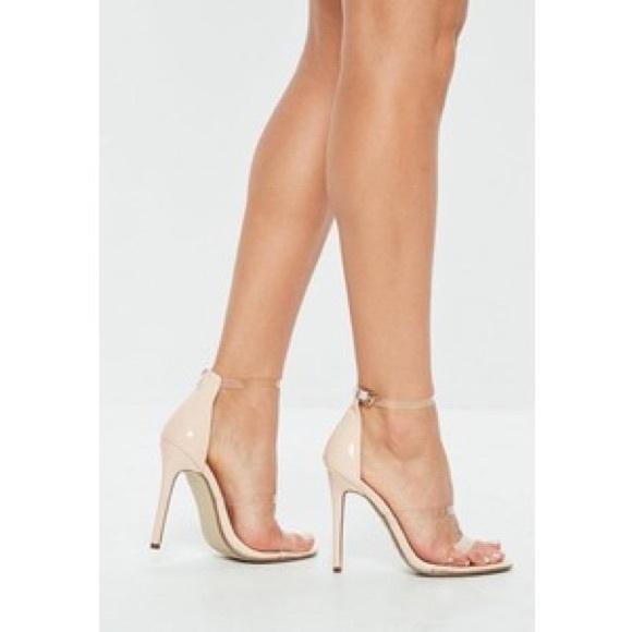 d94f7e5c25b nude perspex heels NWT